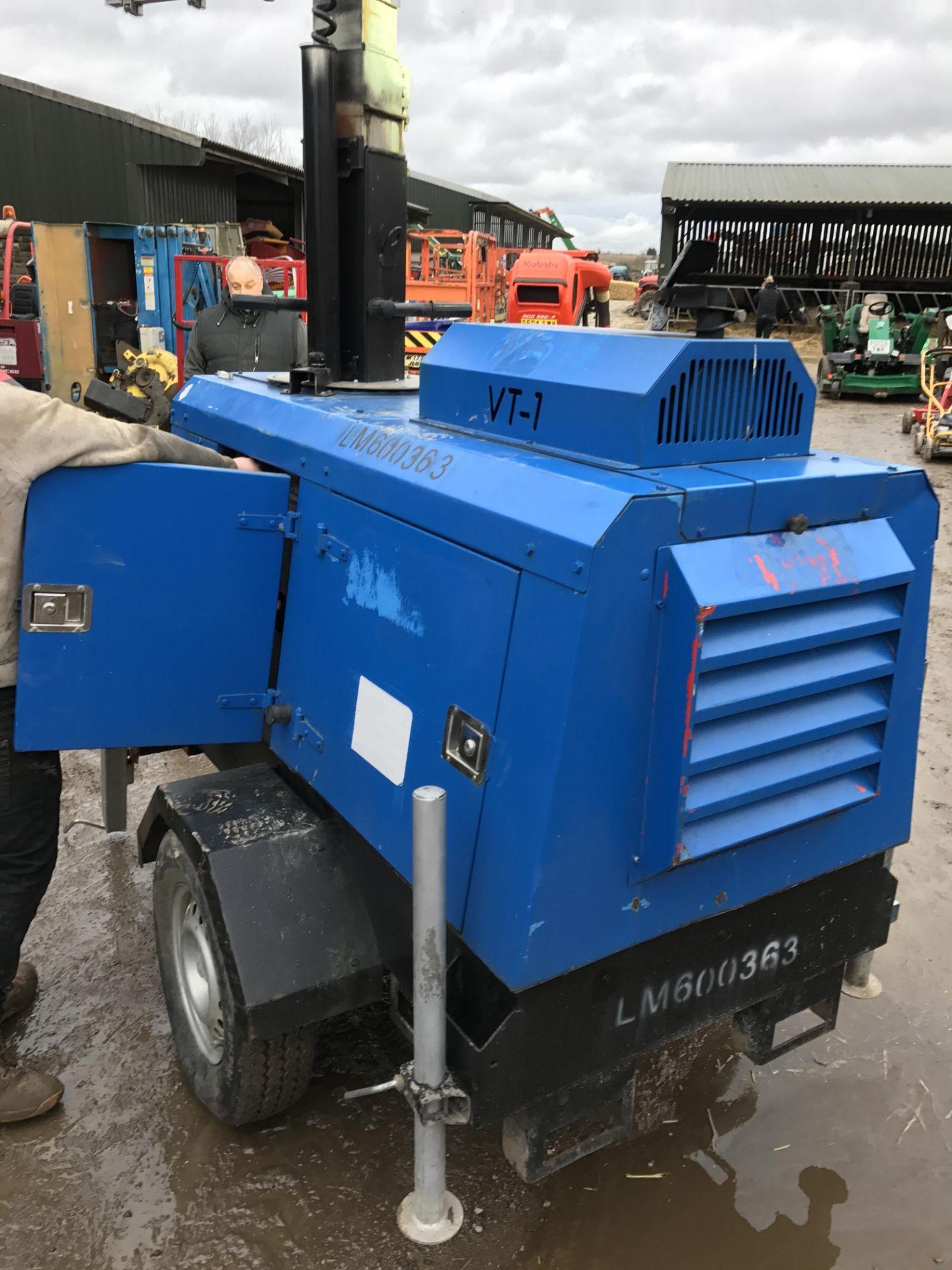 Los 518 - DS - VT1 LIGHTING TOWER / GENERATOR - DIESEL ENGINE DRIVEN *PLUS VAT*  SUPER LIGHT VT 1 STARTS