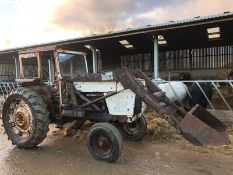 1971 DAVID BROWN 1200 TRACTOR, STARTS WITH A JUMP PACK, DRIVES AND LIFTS *PLUS VAT*