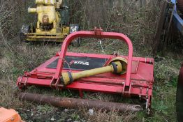 VOTEX 6FT ROLLER MOWER / TOPPER C/W BOTH SIDE SKIRTS, FRONT AND BACK ROLLERS HARDLY USED *PLUS VAT*
