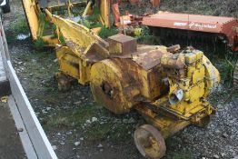 SCRAP METAL SHEAR FITTED WITH A LISTER 2 CYLINDER DIESEL HAND START ENGINE (UNTESTED) *PLUS VAT*
