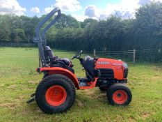 2017/17 REG KUBOTA B2530 COMPACT TRACTOR, RUNS AND WORKS, SHOWING 1989 HOURS *PLUS VAT*