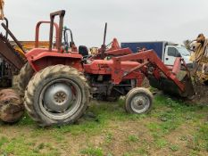 MASSEY FERGUSON 135 TRACTOR C/W FRONT LOADER ATTACHMENT, RUNS & WORKS - EX COLLEGE *PLUS VAT*