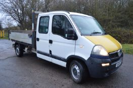 2009/59 REG VAUXHALL MOVANO 3500 CDTI LWB DOUBLE CAB TIPPER, SHOWING 2 FORMER KEEPERS *NO VAT*