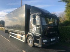 2011/61 REG IVECO EUROCARGO 120E25S BOX LORRY C/W TAIL LIFT, EX LEASING CATERING COMPANY *PLUS VAT*