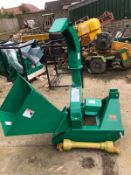 BRAND NEW UNUSED 3 POINT LINKAGE WOOD CHIPPER, C/W PTO SHAFT *PLUS VAT*