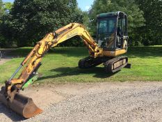 CASE CX35 3.5 TON TRACKED MINI DIGGER / EXCAVATOR 1 X BUCKET, RUNS, WORKS AND DIGS *NO VAT*