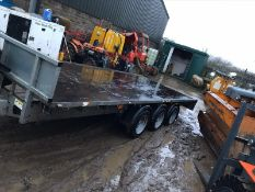 IFOR WILLIAMS TRI-AXLE FLATBED TRAILER WITH WINCH, YEAR 2019 *PLUS VAT*