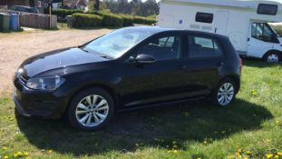 2013/63 REG VOLKSWAGEN GOLF SE BLUEMOTION TECH TDI 1.6 DIESEL 5DR HATCHBACK, SHOWING 3 FORMER KEEPER