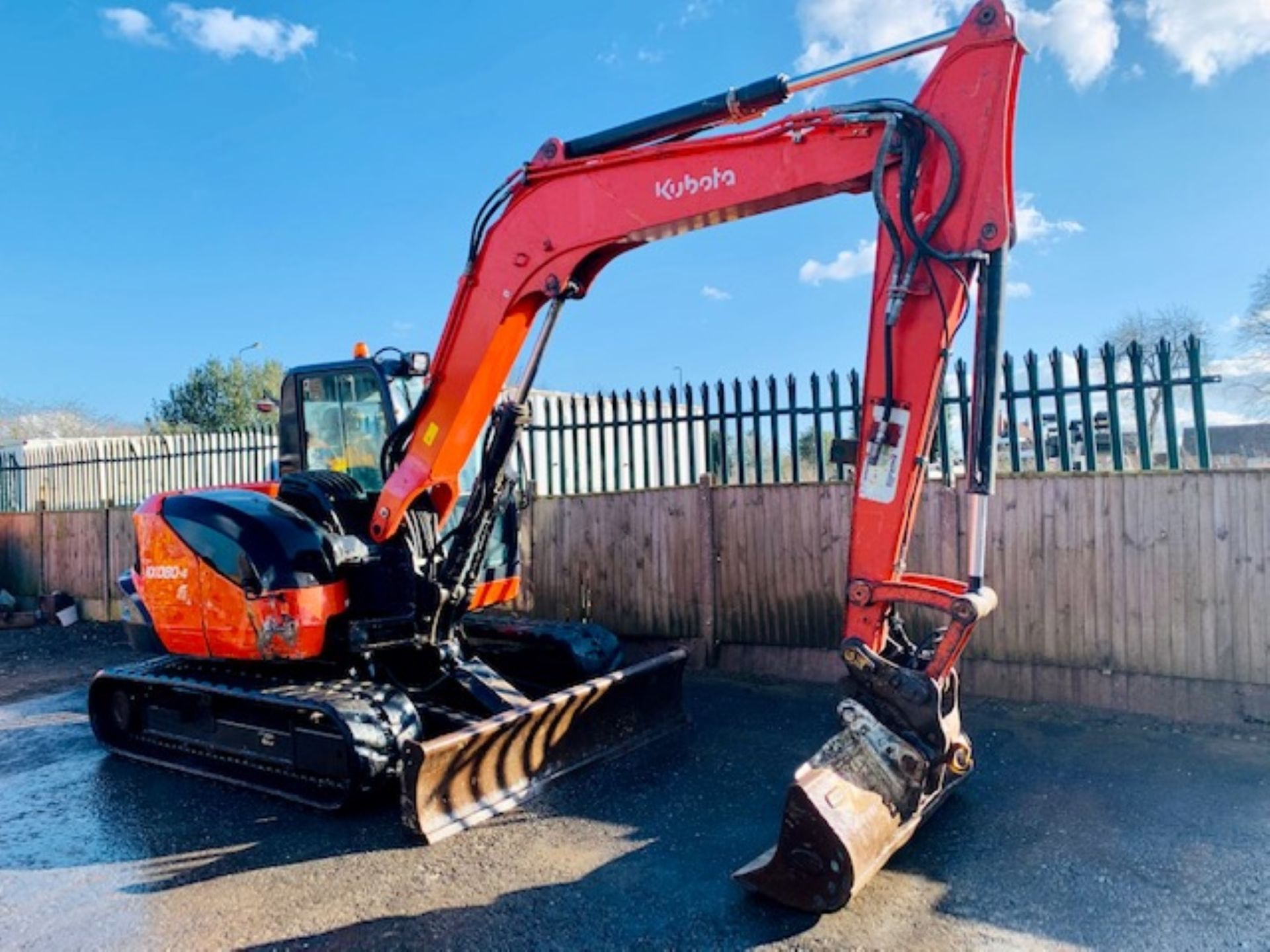 Lot 53 - KUBOTA KX080-4 RUBBER TRACKED CRAWLER DIGGER / EXCAVATOR, YEAR 2015, 4447 HOURS, AIR CON *PLUS VAT*