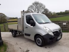 2015/64 REG VAUXHALL MOVANO F3500 L2H1 CDTI 2.3 DIESEL DROPSIDE LORRY, SHOWING 0 FORMER KEEPERS