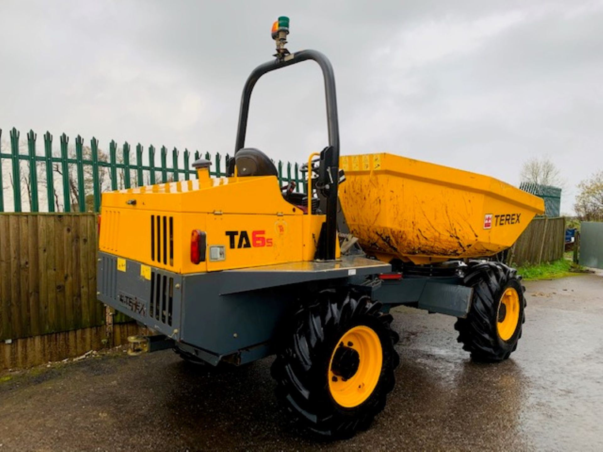 Lot 56 - TEREX TA6 S SWIVEL DUMPER, YEAR 2017, 680 HOURS, GOOD TYRES, ORANGE AND GREEN BEACONS, CE MARKED