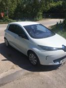 2015/65 REG RENAULT ZOE DYNAMIQUE NAV AUTO ELECTRIC WHITE 5DR HATCHBACK, SHOWING 1 FORMER KEEPER