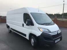 2018/68 REG CITROEN RELAY 35 L3H2 BLUE HDI 2.0 DIESEL WHITE PANEL VAN, SHOWING 1 FORMER KEEPER