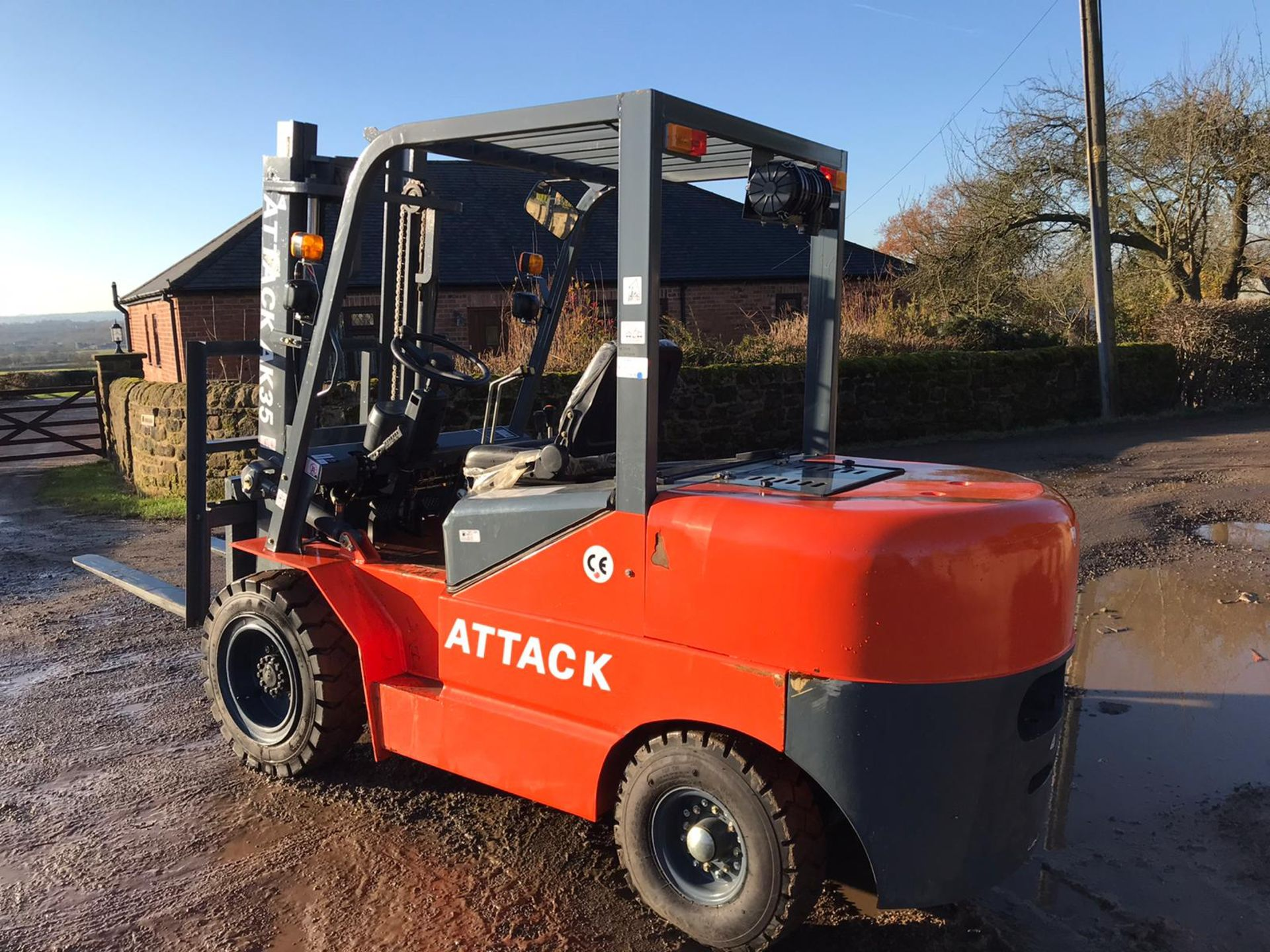Lot 191 - 2019 BRAND NEW & UNUSED ATTACK AK35 3 TON DIESEL FORKLIFT C/W DUPLEX MAST CANOPY *PLUS VAT*
