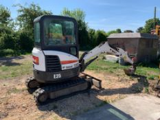 BOBCAT E25 RUBBER TRACKED COMPACT EXCAVATOR / DIGGER, YEAR 2014, 15.3 KW, MASS 2516 KG *PLUS VAT*