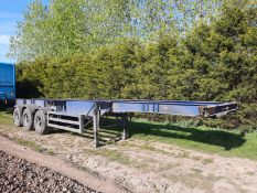 40FT SKELETAL TRAILER, STEEL SUSPENSION, 12 TWISTLOCKS, ROR DRUM BRAKES. 1988 PEAK *PLUS VAT*