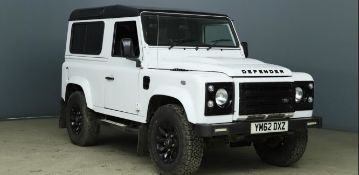 2013/62 REG LAND ROVER DEFENDER 90 XS TD SWB 2.2 DIESEL LIGHT 4X4 UTILITY, SHOWING 2 FORMER KEEPERS