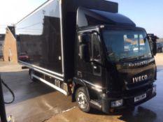 2013/13 REG IVECO EUROCARGO 75E16K 24FT BOX LORRY AUTO GEARBOX EURO 5 *PLUS VAT*
