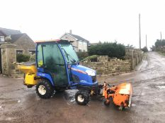 ISEKI TXG237 COMPACT TRACTOR, FULL GLASS CAB, ONLY 396 HOURS, YEAR 2011 *PLUS VAT*
