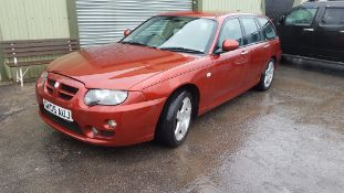 2005/05 REG ROVER ZT-T RED PETROL ESTATE, SHOWING 4 FORMER KEEPERS *NO VAT / NO RESERVE*