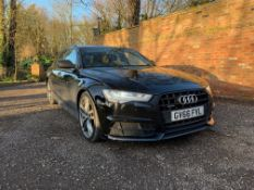 2016/66 REG AUDI A6 S LINE BLACK EDITION TDI QUATTRO 3.0 V6 DIESEL ESTATE, SHOWING 2 FORMER KEEPERS