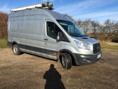 2014/64 REG FORD TRANSIT 350 2.2 DIESEL SILVER PANEL VAN, SHOWING 0 FORMER KEEPERS *NO VAT*