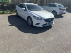 2016/16 REG MAZDA 6 SE-L NAV D AUTO WHITE 4 DOOR SALOON, SHOWING 0 FORMER KEEPERS *NO VAT*