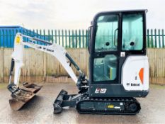 BOBCAT E19 RUBBER TRACKED CRAWLER DIGGER / EXCAVATOR, YEAR 2019, 3 X BUCKETS, 2 SPEED TRACKING