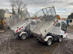 2 X GROUPIL G3 ELECTRIC TIPPER TRUCKS FOR SPARES / REPAIRS. FRENCH REGISTERED *PLUS VAT*