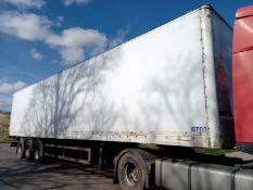 SDC 4.2M TRI-AXLE BOX TRAILER, BPW DRUM BRAKES, FULL CHASSIS, MOT JULY 20, YEAR 2003 *PLUS VAT*