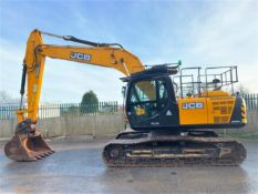 JCB JS220 LC PLUS STEEL TRACKED CRAWLER DIGGER / EXCAVATOR, YEAR 2017, 3256 HOURS, 3 X BUCKETS