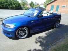 2012/62 REG BMW 120D SPORT PLUS EDITION 2.0 DIESEL BLUE CONVERTIBLE *NO VAT*