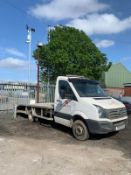 2013/13 REG VOLKSWAGEN CRAFTER CR50 TDI 143 2.0 DIESEL WHITE RECOVERY, SHOWING 1 FORMER KEEPER