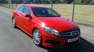 2015/15 REG MERCEDES-BENZ A180 BLUE EFFICIENCY AMG SPORT CDI 1.5 DIESEL, SHOWING 0 FORMER KEEPERS