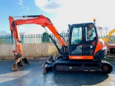 KUBOTA KX080-4 RUBBER TRACKED CRAWLER DIGGER / EXCAVATOR, YEAR 2015, 4447 HOURS, AIR CON *PLUS VAT*