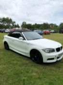 2009/09 REG BMW 118D M SPORT 2.0 DIESEL WHITE CONVERTIBLE, SHOWING 5 FORMER KEEPERS *NO VAT*