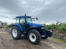 NEW HOLLAND TM120 TRACTOR, 4 WHEEL DRIVE, LOW HOURS ONLY 6128 GENUINE, MANUAL GEARBOX *PLUS VAT*