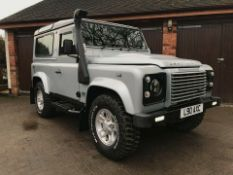 2008/08 REG LAND ROVER DEFENDER 90 XS STATION WAGON SWB 2.4 DIESEL SILVER - FULL SERVICE HISTORY!