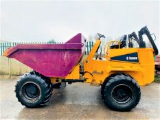 THWAITES MACH 690 9 TON STRAIGHT TIP DUMPER, YEAR 2015, 924 HOURS, ORANGE & GREEN BEACON, CE MARKED