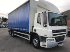 2008/58 REG DAF TRUCKS CF FAS CF 75.310 DAY E4 6X2 CURTAIN SIDED TRUCK, MANUAL GEARBOX *PLUS VAT*