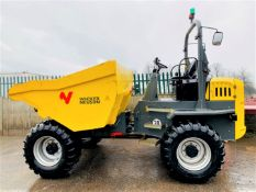WACKER NEUSON DW90 STRAIGHT TIP DUMPER, YEAR 2017, 882 HOURS, FORWARD CAMERA, CE MARKED *PLUS VAT*