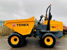 TEREX TA9 9 TONNE DUMPER, YEAR 2017, 824 HOURS, GOOD TYRES, ROAD LIGHTS, ORANGE & GREEN BEACONS