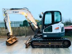 BOBCAT E85 RUBBER TRACKED CRAWLER DIGGER / EXCAVATOR, YEAR 2014, 3637 HOURS, AIR CON, CE MARKED