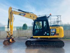 CAT 313 F LGC STEEL TRACKED CRAWLER DIGGER / EXCAVATOR, YEAR 2016, 3445 HOURS, 2 X BUCKETS, AIR CON