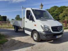 2014/64 REG MERCEDES-BENZ 313 CDI MWB DROPSIDE LORRY, 1 PLC OWNER FROM NEW, FULL SERVICE PRINT OUT