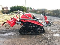 YANMAR AC10D COMPACT TRACTOR ON TRACKS, C/W ATTACHMENT ON THE BACK, RUNS AND WORKS *PLUS VAT*