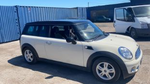 2007/57 REG MINI COOPER CLUBMAN 1.6 PETROL WHITE, SHOWING 3 FORMER KEEPERS *NO VAT*