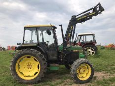 JOHN DEERE 1750 TRACTOR WITH LOADER 4WD, RUNS, DRIVES AND LIFTS *PLUS VAT*