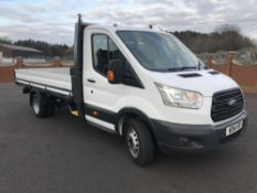 2014/14 REG FORD TRANSIT LWB 155BHP T350 DROPSIDE LORRY, SHOWING 1 FORMER KEEPER *PLUS VAT*