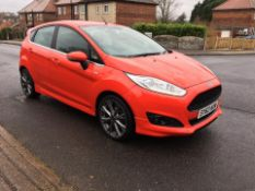 2013/63 REG FORD FIESTA ZETEC 998CC PETROL RED 5 DOOR HATCHBACK, SHOWING 1 FORMER KEEPER *NO VAT*